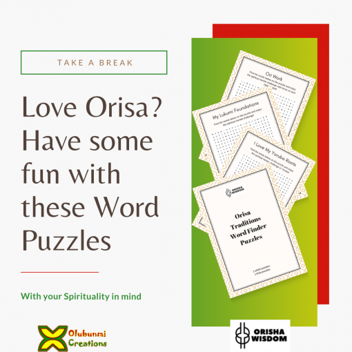 Orisa Traditions Word Finder Puzzles 1